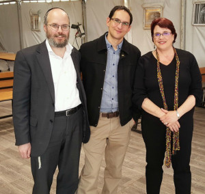 During a 2016 February trip to Israel, JCF CEO Tracy Salkowitz visited Hachmey Lev. She is pictured here with the head of school and courageous visionary Rabbi Betzalel Cohen and Daniel Hasson, Director of Resource Development, Society for Advancement of Education, Jerusalem