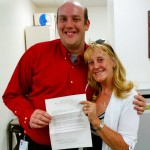 """Kristopher Carson """"KC"""" Rosburg and Carol Galper, assistant dean for medical student education at the University of Arizona College of Medicine."""