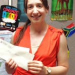 Nataly Vadasz with her award letter.
